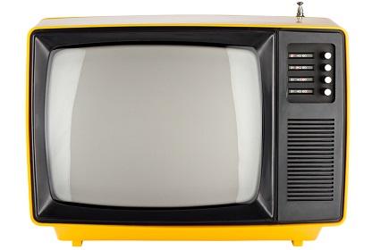 alter roter fernseher aus den 80ern display