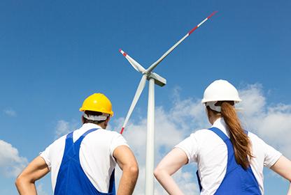 Windrad Belegschaftsgenossenschaften und erneuerbare Energien