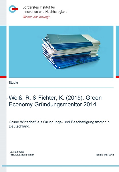 Cover Green Economy Gründungsmonitor 2014