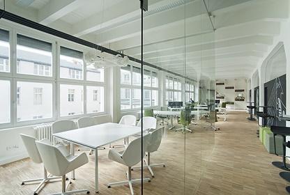Working Space im Impact Hub Prag Green Start-up