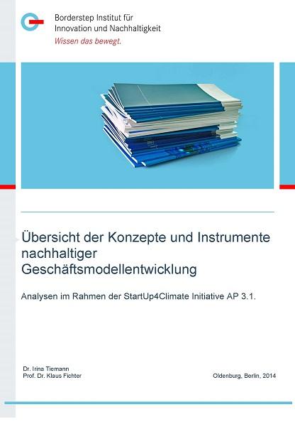 Cover Übersicht der Konzepte und Instrumente nachhaltiger Geschäftsmodellentwicklung