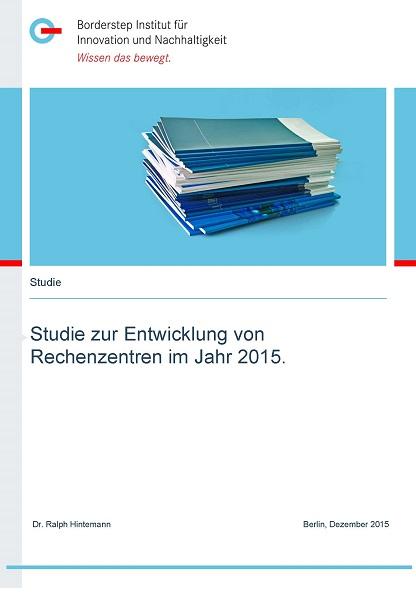 Cover Studie zu Rechenzentren im Jahr 2015