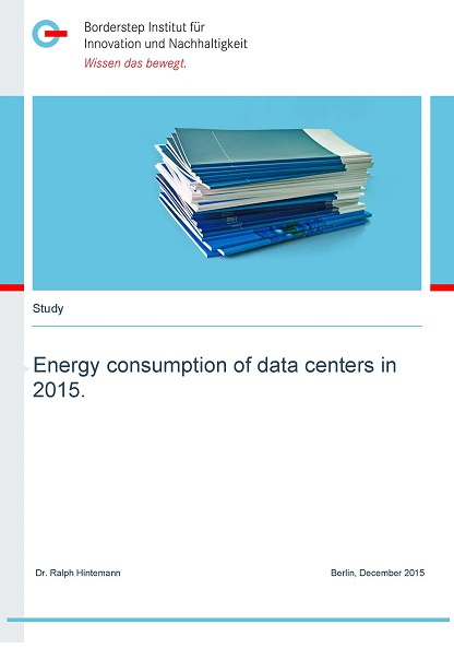 Cover Energy consumption of data centers in 2015.