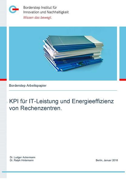 Cover KPI für IT-Leistung und Energieeffizienz von Rechenzentren