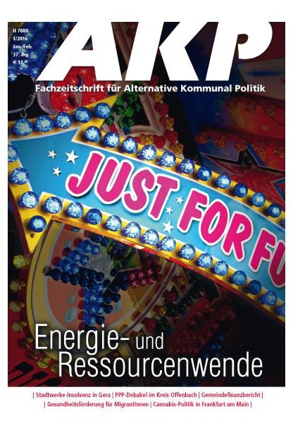 Cover AKP Fachzeitschrift für Alternative Kommunal Politik